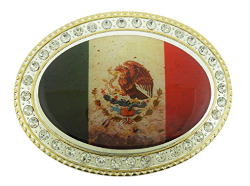 Mexico Flag Mexicans Vaquero Belt Buckle Collectible Costume Metal New - Belt New Buckle Flag