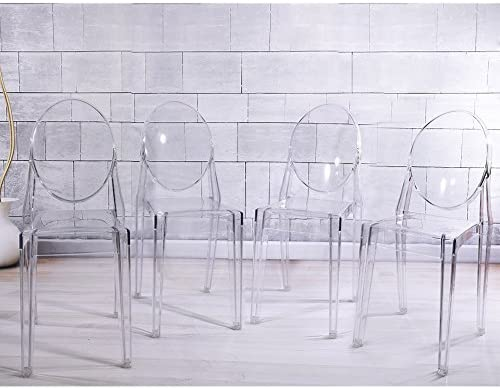 Anaelle Panana Set di 4 sedie Ghost in policarbonato
