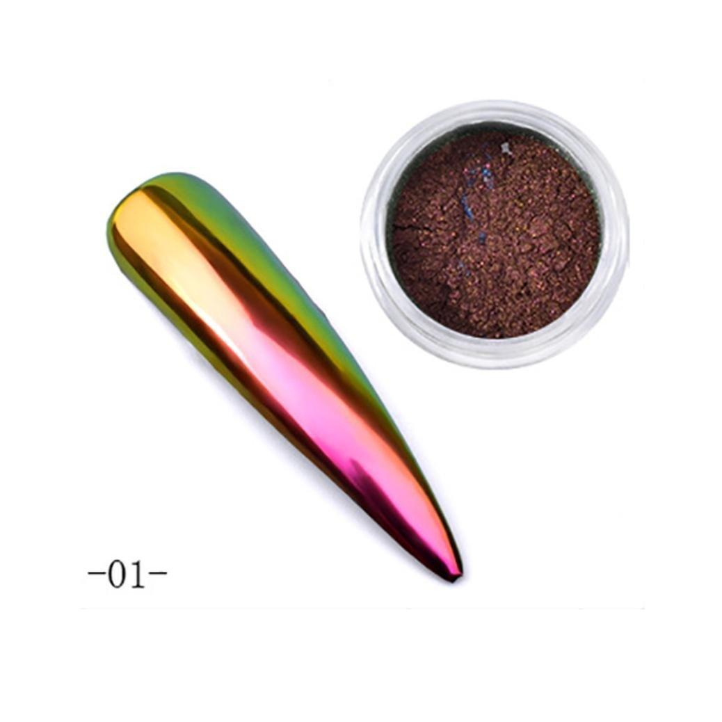 BBsmile Neon Symphony Decoloración polvo Nail Art Sirena pigmento polvo DIY decoración de uñas (C)