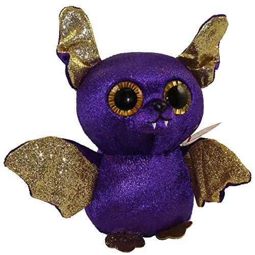"2018 Halloween TY Beanie Boos 6"" Count Purple Bat Plush MWMT"