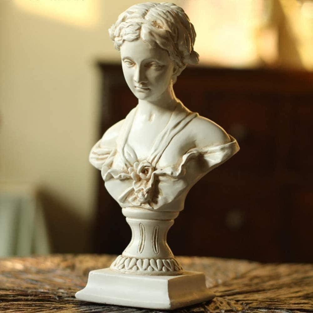 BXZ Home Decoration Ornaments Venus De Milo Sculpture Resin Modern Bust Statue Fashion Greek Goddess Figurine Home Furnishing Artwork Craft Gifts a 13X23.5Cm