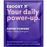 EBOOST SUPER POWDER Mind + Body Energizer, Acai Pomegranate | Blend of Vitamins, Electrolytes & Antioxidants for Steady Energy and Focus (20 Count)