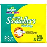 Pampers Swaddlers Preemie New Baby Diapers 20 ea