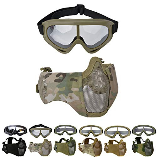 Hiking Eyewears Collection Here High Quality Hunting Tactical Paintball Goggles Eyewear Steel Wire Mesh Airsoft Net Glasses Shock Resistance Eye Game Protector Attractive And Durable