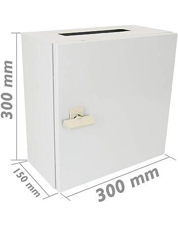 BeMatik - Caja de distribución eléctrica metálica con protección IP65 para fijación a Pared 300x300x150mm