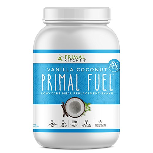 Primal Kitchen Primal Fuel Whey Protein Powder, Vanilla Coconut, 32 ounce, Paleo, Gluten Free with Beneficial Prebiotics