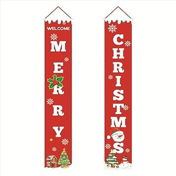Amazon.com: Ruipunuosi - Cartel de Navidad con texto en ...
