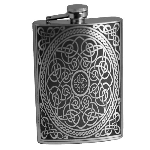 8oz Celtic Design Flask L1