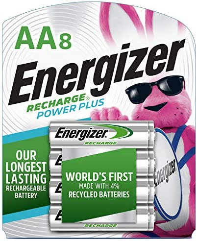 Energizer NH15BP-8 Rechargeable AA Batteries, 2300 mAh, Pre-Charged, 8 rely (Recharge Power Plus)