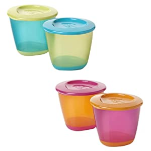 Tommee Tippee Pop Up Weaning Pots, Blue, 2-Count