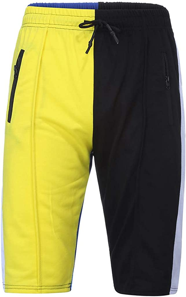 Rikay Mens Sports Shorts Color Block Cargo Summer Cotton Plain Combat Pants Sizes M L XL XXL XXXL New