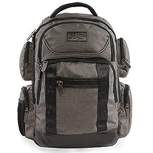 ORIGINAL PENGUIN Odell 9 Pocket Laptop/Tablet Backpack Briefcase, Charcoal, One Size