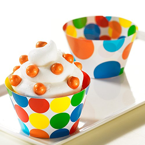 BirthdayExpress Primary Dots Reversible Cupcake ()