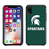 Prime Brands Group Textured Team Color Cell Phone Case for Apple iPhone X - NCAA Licensed Michigan State University Spartans