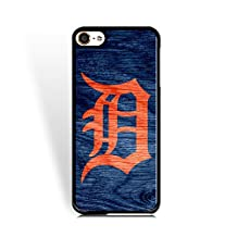 MLB-Ipod Touch 6th Generation Cover Detroit Tigers for Boy Warm Color Baseball Team Logo Case for Ipod Touch 6th Generation Drop Resistance