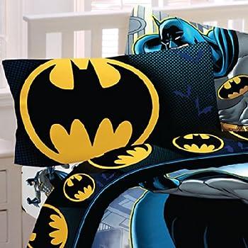 Amazon.com: Batman Emblem 3 Piece Reversible Super Soft Luxury ...