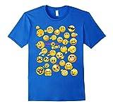 Mens Funny Emoji Faces Shirt for Girls, Boys, Teens, Men & Women Large Royal Blue