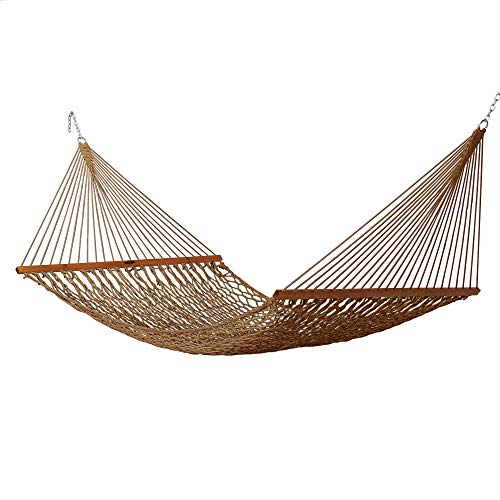 Original Pawleys Island 14DCAB Deluxe Duracord Rope Hammock, Antique Brown
