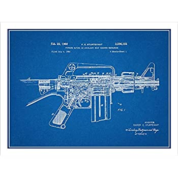 Ar 15 assault rifle m16 patent print art for My blueprint arkansas