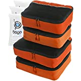 Bago Packing Cubes 4pcs Value Set for Travel - Plus 6pcs Organizer Bags