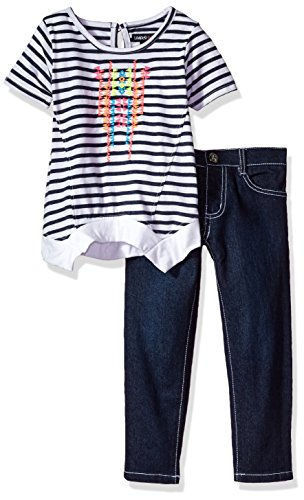 Limited Too Girls' Toddler Fashion Top and Pant Set (More Styles Available), Medium Blue Denim-CBDF, -