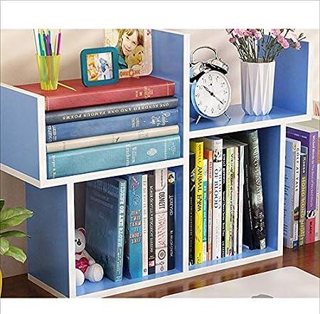 Pequeña Estantería Mesa Simple Mini Estante Simple Moderno Estudiante Librería Niños Escritorio Mesa De Comedor Almacenamiento,Blue: Amazon.es: Hogar