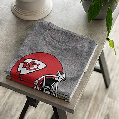 OM3 - Kansas City Football - T-Shirt | Damski | American Football Shirt | S - 4XL: Odzież