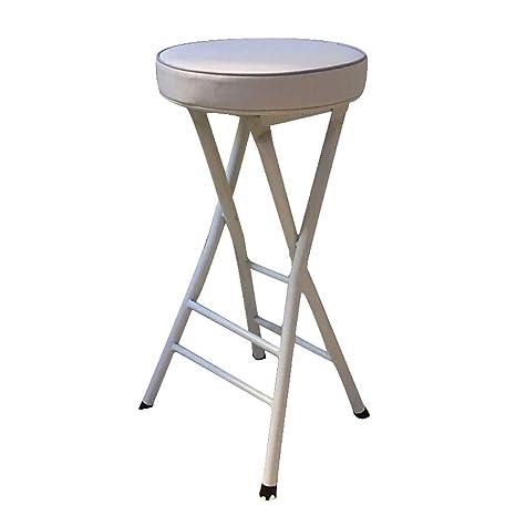 Admirable Amazon Com Bar Stool Folding High Stool Steel Frame Pu Seat Bralicious Painted Fabric Chair Ideas Braliciousco