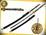 42.5'' Japanese Samurai Katana Sword with Highlander 1 Dragon Handle perfect for cosplay outdoor camping