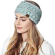 Women's Winter Warmers Knitted Headbands, Chunky Knit Headbands Braided Winter Headbands Wide Side Hair Ba