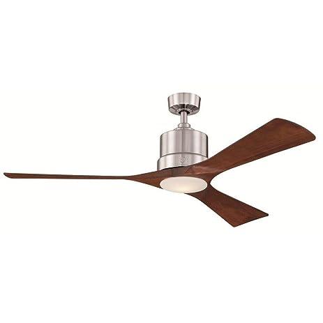 Ge phantom 54 in brushed nickel indoor led ceiling fan amazon brushed nickel indoor led ceiling fan mozeypictures Gallery