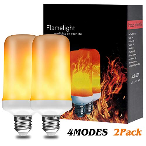 LED Flame Effect Light Bulbs E26 Simulation Fire Flickering Decorative Bulbs Halloween/Home/Hotel/Bar/Party(2pack)]()