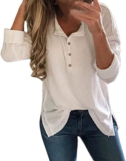 Camisetas Mujer Manga Larga 2019 Hipster Camisetas Mujer Verano Blusa Mujer Sport Tops Mujer Verano Camisetas Casual Tallas Grandes Mujer Camisetas Algodón Mujer Camiseta Mujer Tops: Amazon.es: Ropa y accesorios