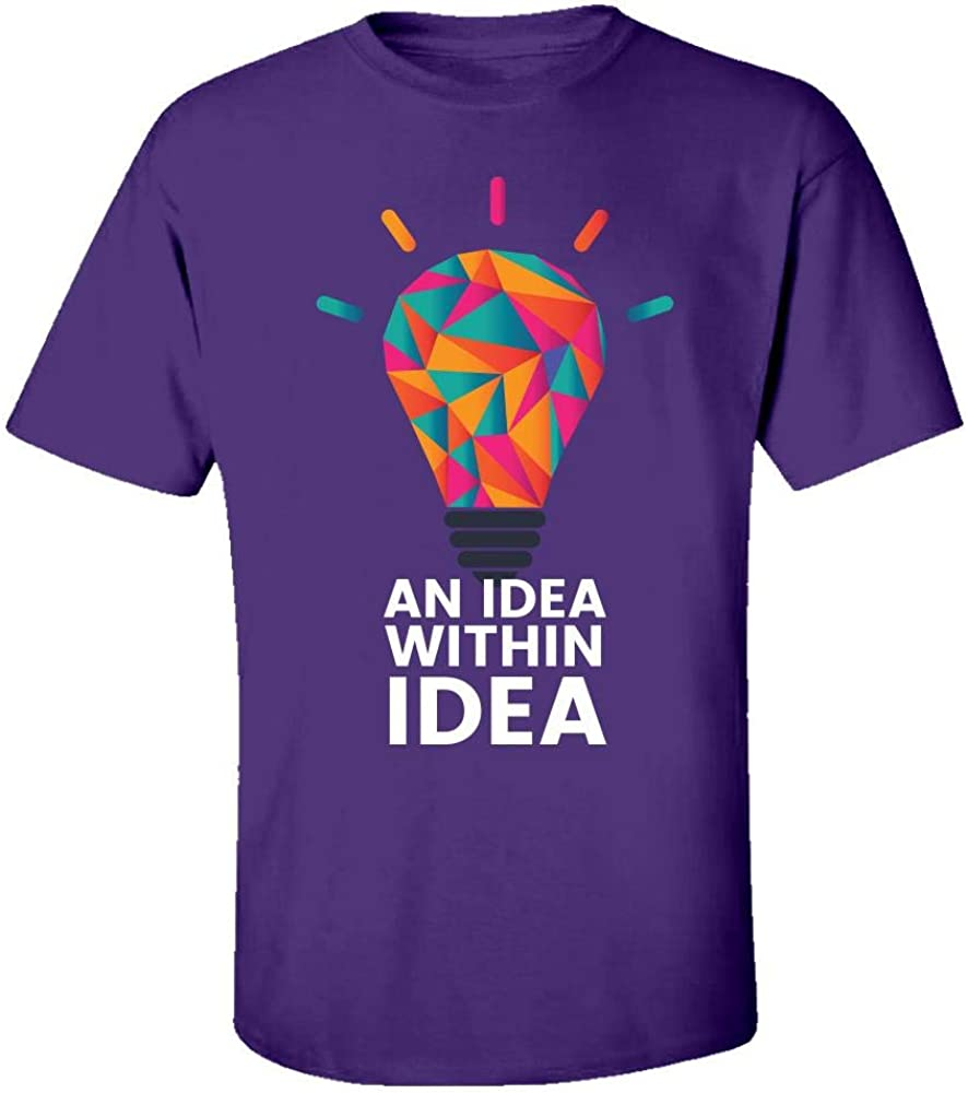 an Idea Within Idea Cool Creative Beautiful Design Kids T-Shirt Purple