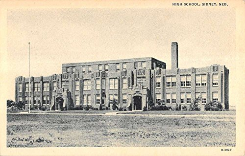 Sidney Nebraska High School Street View Exterior Antique Postcard K14943