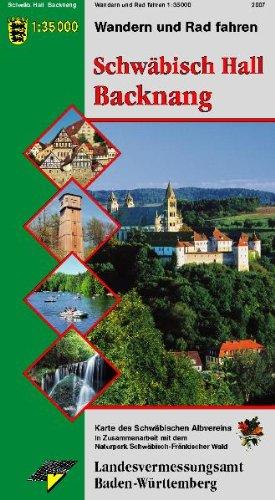 Wanderkarte Schwäbisch Hall Backnang: Wandern und Radfahren (Karte des Schwäbischen Albvereins, Band 8)