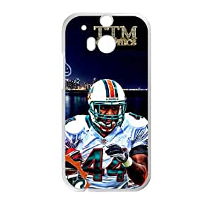 Miami Dolphins HTC One M8 Cell Phone Case White persent zhm004_8459312