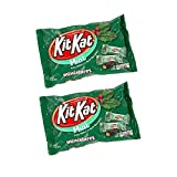 Kit Kat Mint Dark Chocolate Miniatures Wafers, 10 ounce Bags (Pack of 2)