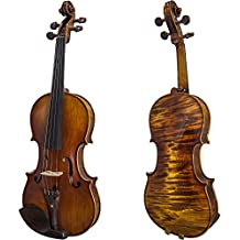 SKY Guarantee Mastero Sound 4/4 Size Professional Hand-made 4/4 Full Size Acoustic Violin Rosewood Parts Antique Style Beautiful One Piece Back