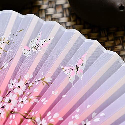 Ventilatore pieghevole a 2 pezzi Ventilatore cinese da danza classica estiva con ventola pieghevole B B