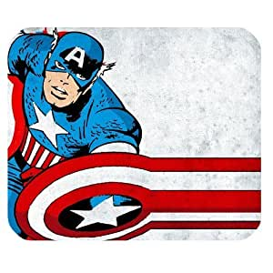 Custom Captain America High Quality Printing Rectangle Mouse Pad Design Your Own Computer Mousepad