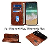 iPhone 6 Plus 5.5'' Case and Cover,Hulorry Heavy Duty Protection Folio Case,Wallet Slot Attachment 2 in 1,Soft TPU Case,360 Degree Protection Cover for iPhone 6 Plus/6s Plus 5.5''