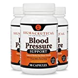 3 Pack of Premium Blood Pressure Support Formula - High Blood Pressure Supplement w/Vitamins, Hawthorn Extract, Olive Leaf, Garlic Extract & Hibiscus Supplement - 90 Capsules Each