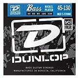 Dunlop DBN45130 Nickel Wound Bass Strings, Medium 5-String, .045?.130, 5 Strings/Set