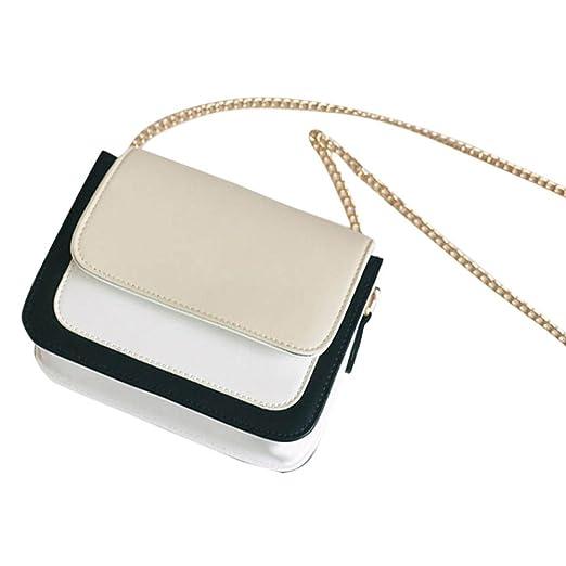 FDelinK Fashion Women Girls Leather Chain Handbag Cross-Body Shoulder Bag Messenger Tote Bags (