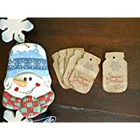 Christmas Mason Jar Gift Tags, Canning Jar Labels, Snowflake Tags, Christmas Stickers, Mason Jar Labels, Set of 10