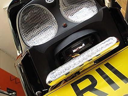 Bestlymood 4 Unids Motocicleta Negro Indicador de Se?al de Vuelta Luz de la L/ámpara Moto Luz Intermitente para Chopper Bobber