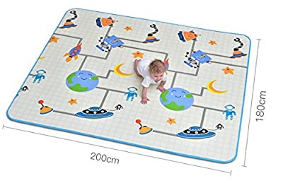 """Little Lifehacks Baby Play Mat Foam Floor Mat Rug Activity Gym for Crawling 