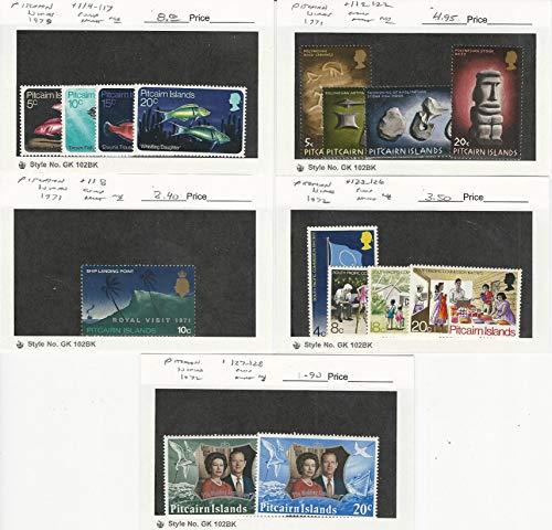 Pitcairn Islands, Postage Stamp, 114//128 Mint NH, 1970-72, JFZ
