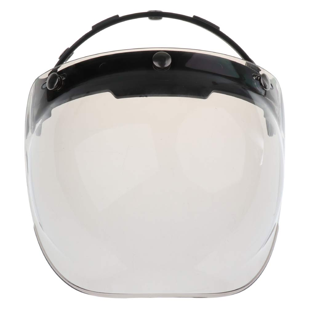 MonkeyJack 3 Snap Bubble Replacement Motorcycle Helmet Shield All Colors or Flip Up Base 7